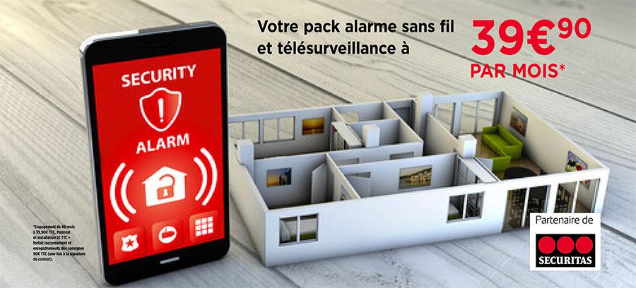 Notre pack alarme sans fil et télésurveillance